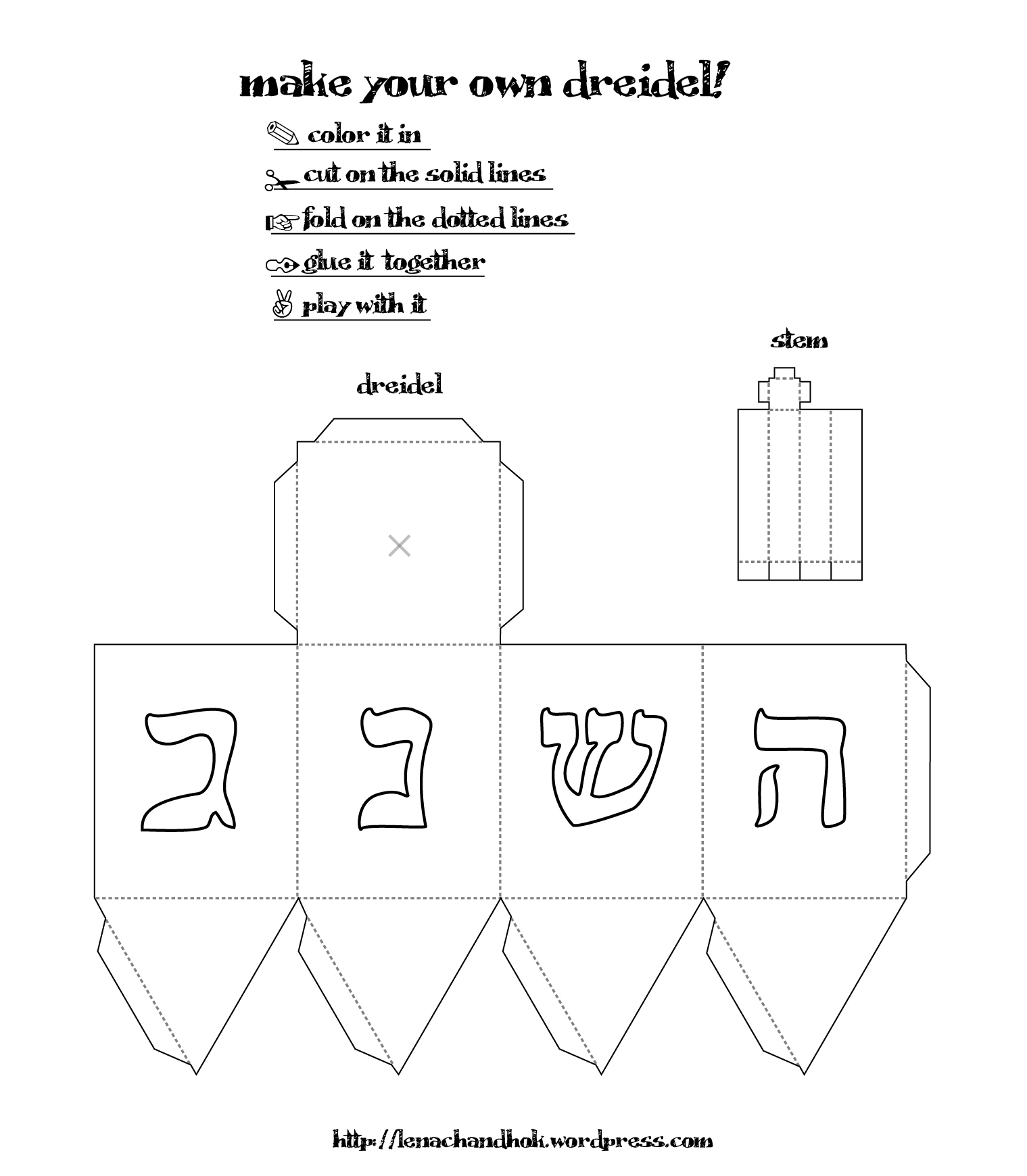graphic relating to How to Play Dreidel Printable named Dreidel Drawing at  Totally free for unique hire