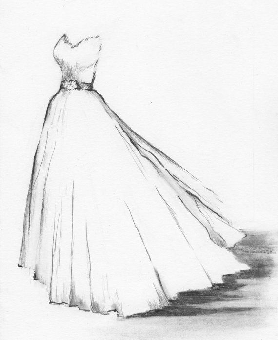 570x698 Drawn Wedding Dress Pretty Dress