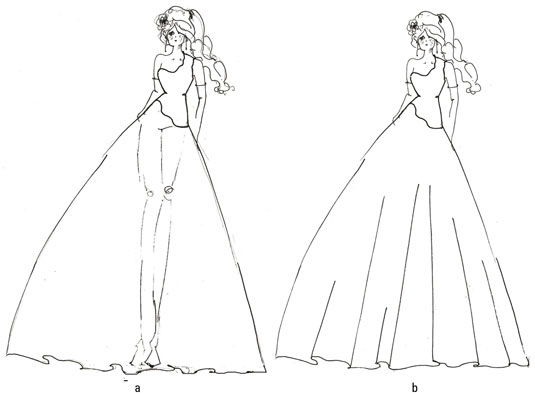 535x395 How To Draw Gorgeous Fashion Gowns