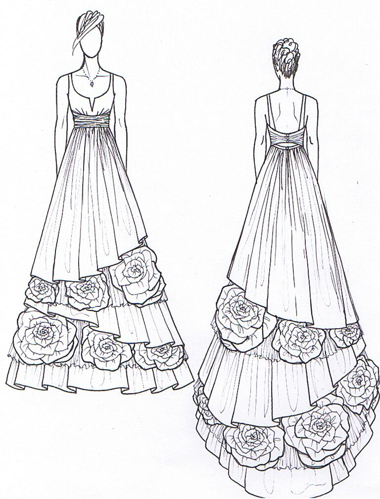 Dress Design Drawing at GetDrawings.com | Free for personal use ...