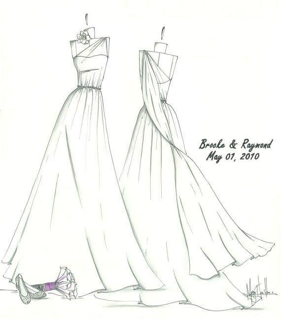 570x646 Wedding Dress Drawing