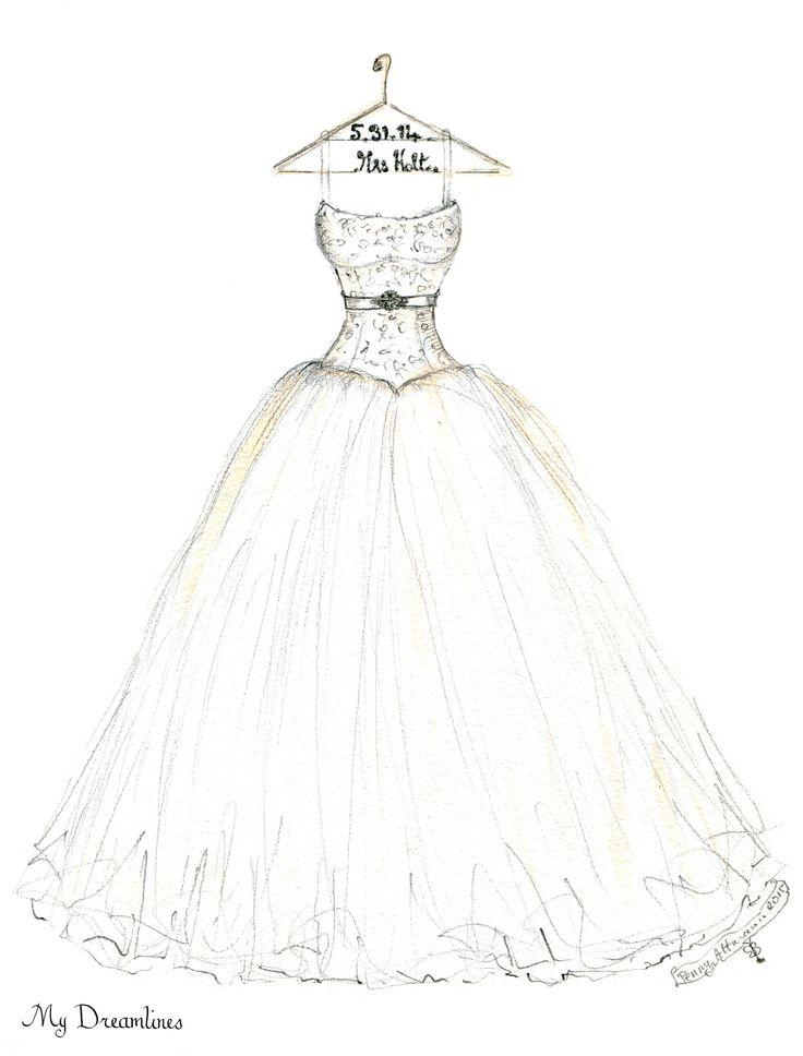 736x968 Wedding Dress Drawing Fashion Design Images