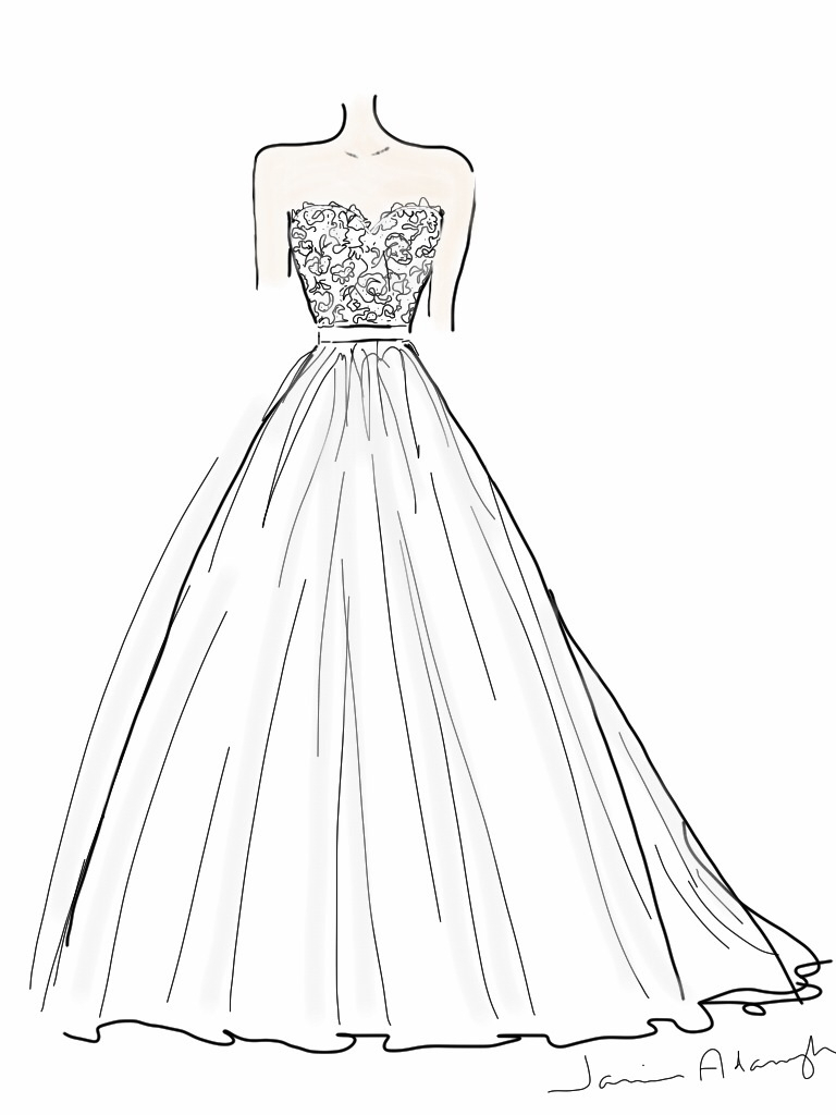 768x1024 Drawing Of Wedding Dress Drawn Design Wedding Dress