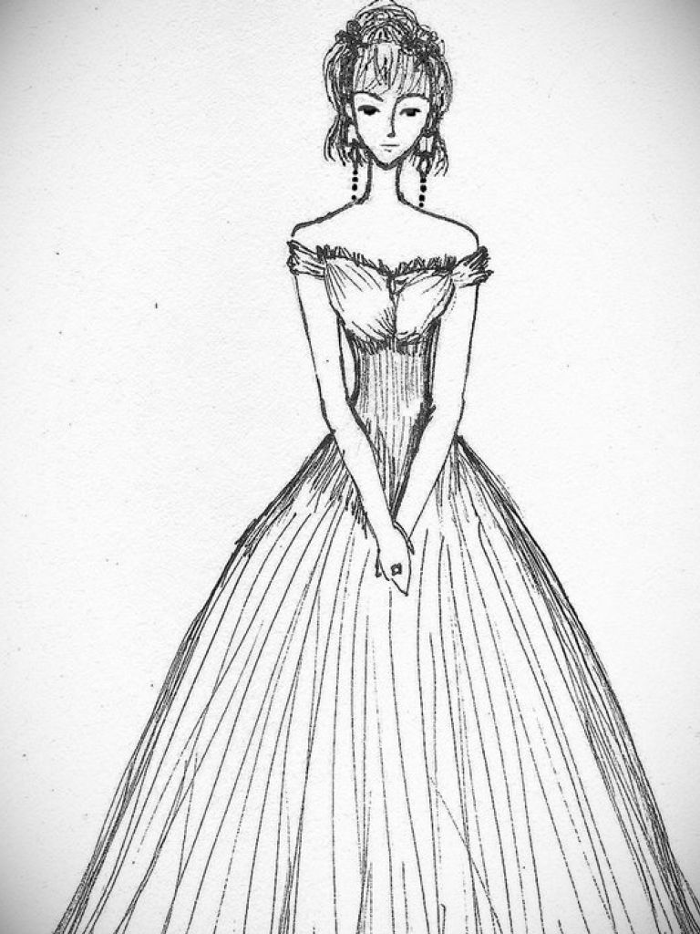 768x1024 Drawing Of Cocktail Dress Fashion Dresses