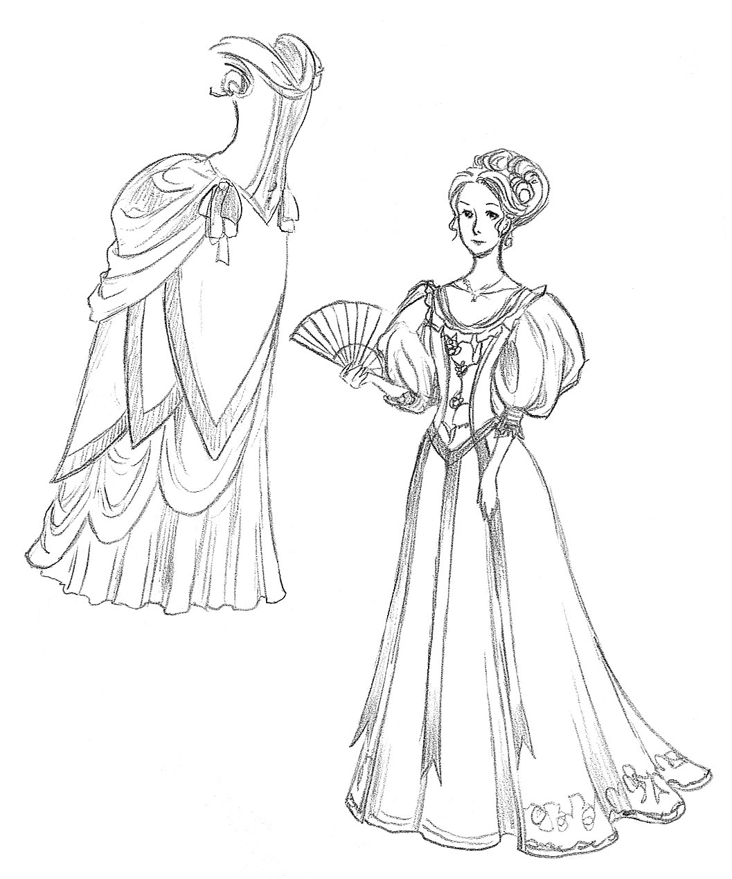 1057x1269 How To Draw A Dress Inspired By The New Cinderella Movie