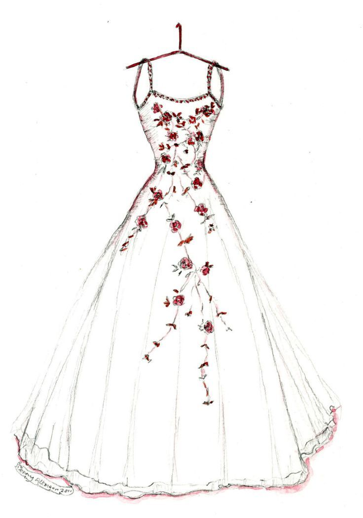 736x1050 Pictures How To Draw Dress Designs,