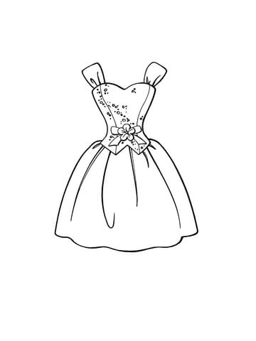 360x480 Beautiful Dress Coloring Page Free Printable Coloring Pages