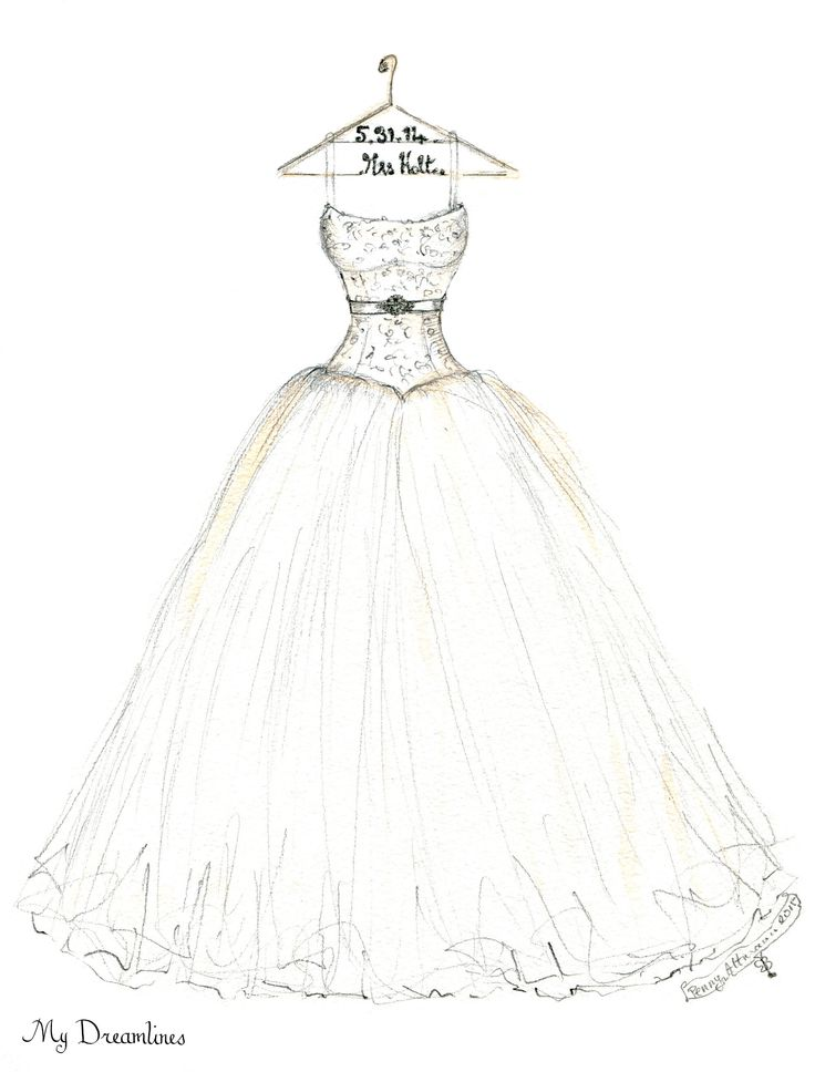 736x968 Wedding Dress Sketch Drawing Design Your Own Dress Sketches