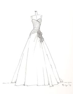 236x304 Dress Sketch Of Your Special Dress