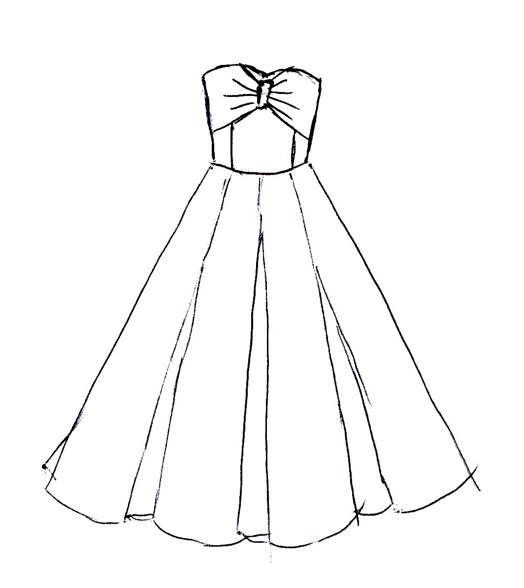 Dress Designs Drawing At Getdrawings Com Free For