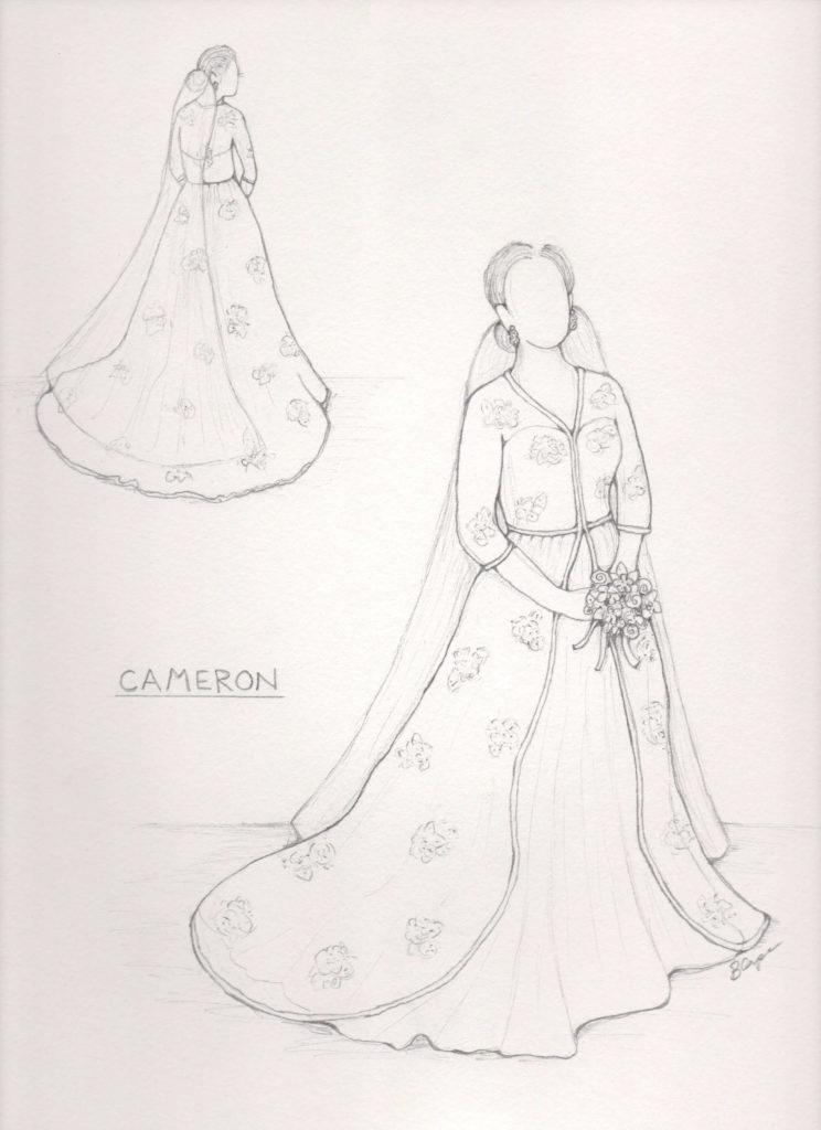744x1024 Cameron's Design Consultation And Wedding Dress Sketch