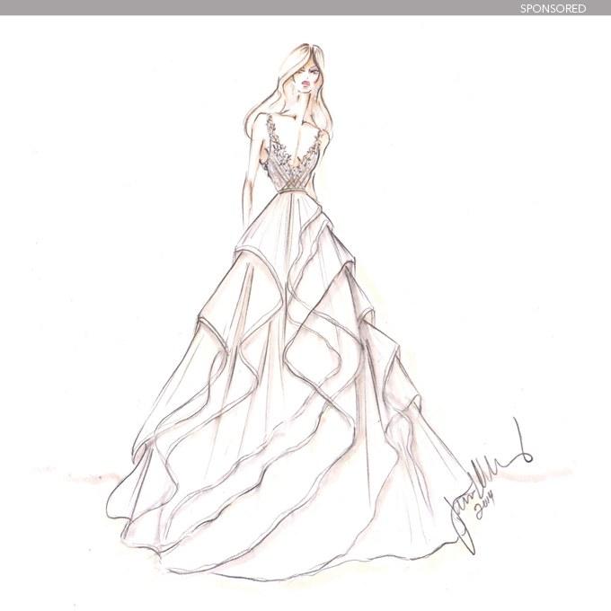 680x680 Designer Wedding Dress Sketches Behind The Scenes Brides