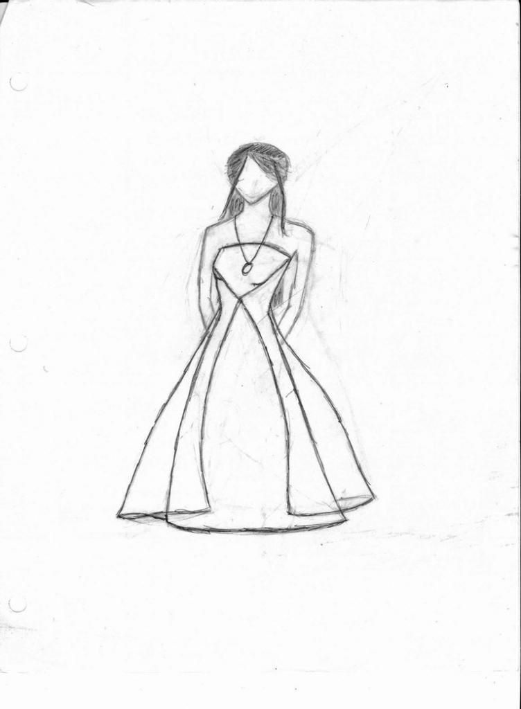 752x1024 Dress Easy Drawing Drawings Easy