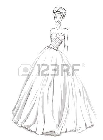 331x450 Dress Sketch Stock Photos Amp Pictures. Royalty Free Dress Sketch