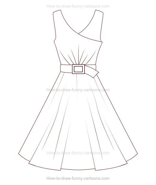 522x617 How To Draw A Cartoon Dress