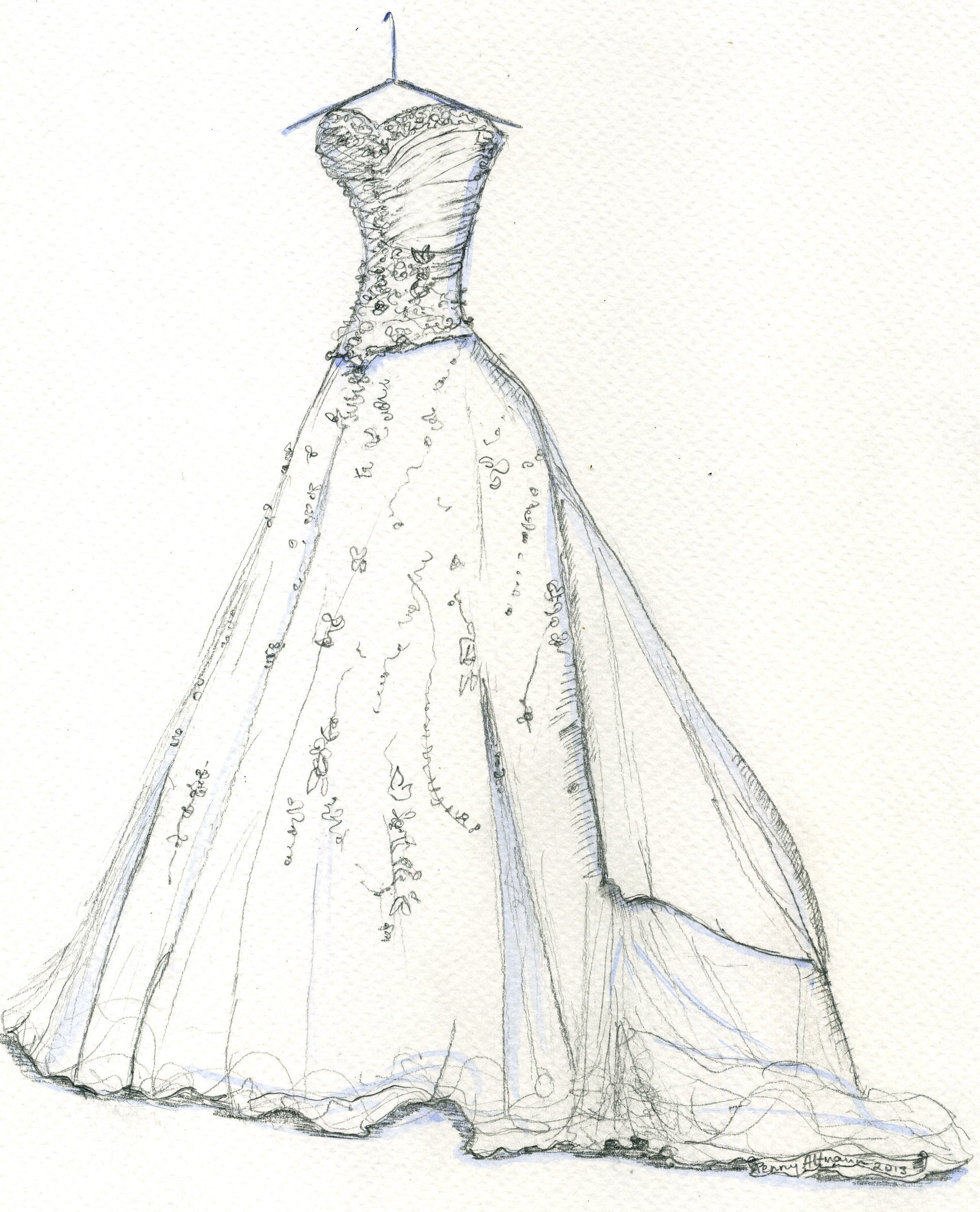 1918x2371 How To Draw A Wedding Dress