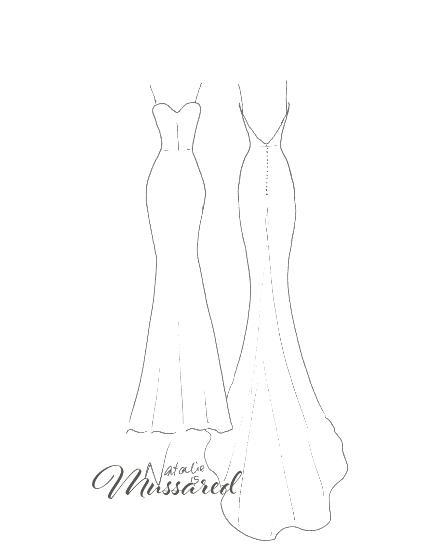 440x550 Mussared Handmade Silk Wedding Dresses Melbourne Sketches Gallery