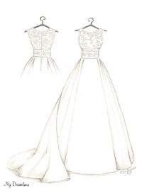 200x275 Wedding Dress Sketch Gallery Dreamlines Sketches