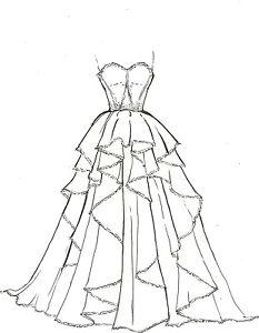 233x300 Artists Original Fashion Illustration Sketch Pencil Drawing
