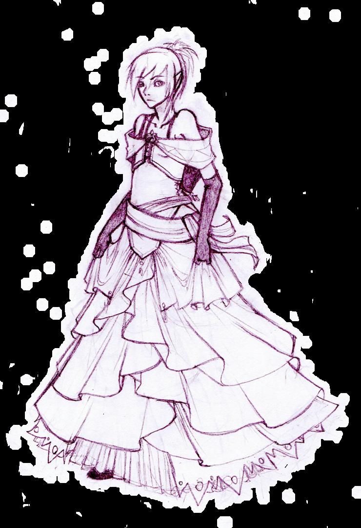 740x1080 Fancy Dress Sketch Thing By Kittyalyst