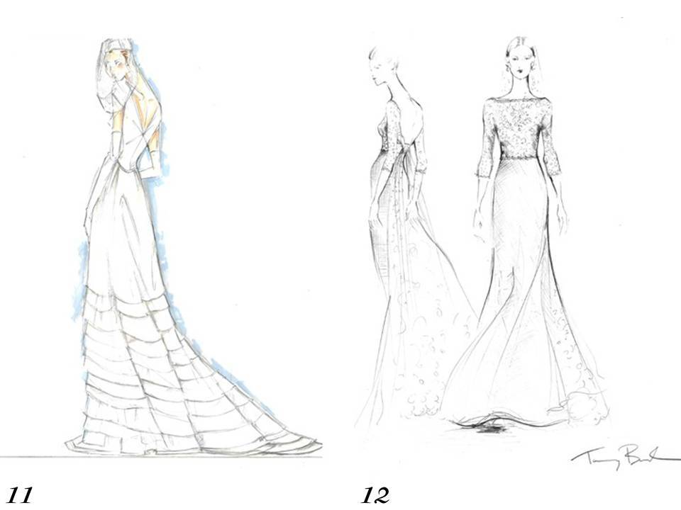 960x720 Wedding Dress Speculation Tommy Hilfiger And Tory Burch Sketch