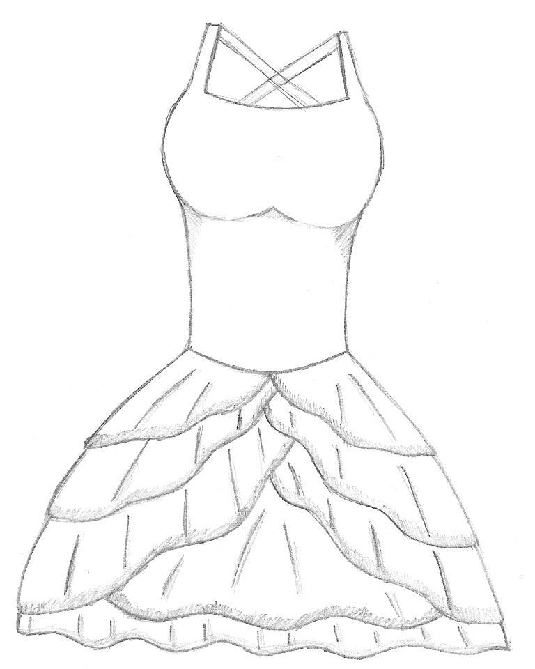 768x960 Alternate Dress Sketch By Nekochanthekitty