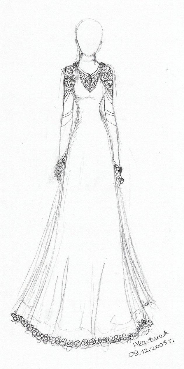 631x1267 Anime Dress Drawing Drawn Wedding Dress Anime