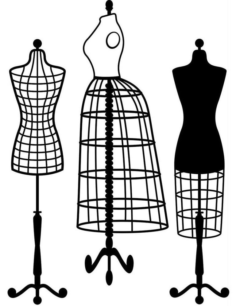 769x997 Darice Embossing Folder Dress Forms