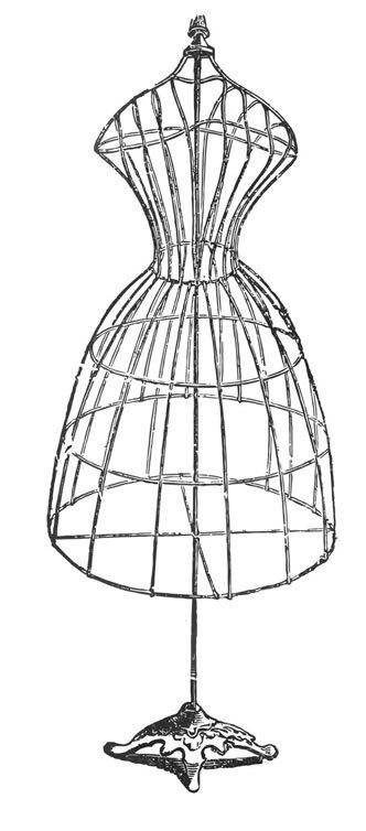 332x754 Dressmaker's Dummies White Orchid