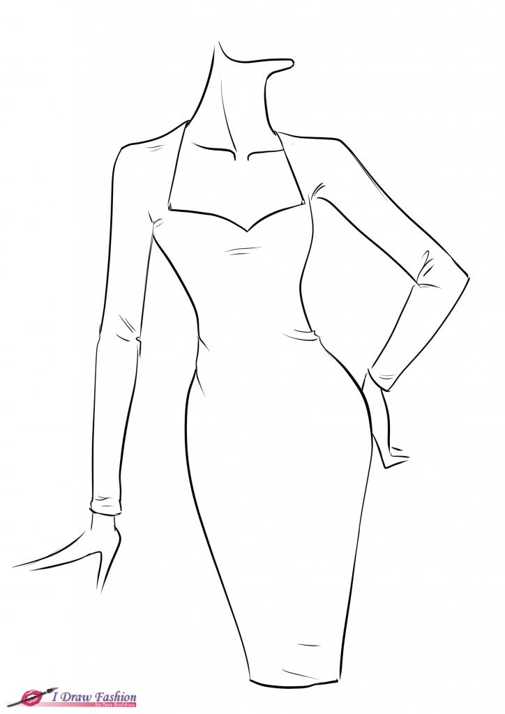 724x1024 Easy Dress Fashion Drawing How To Draw Fringe Dress I Draw Fashion