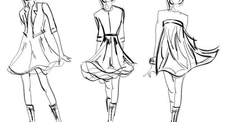 728x393 Easy Dress Fashion Drawing Wedding Dress Dress Form Is
