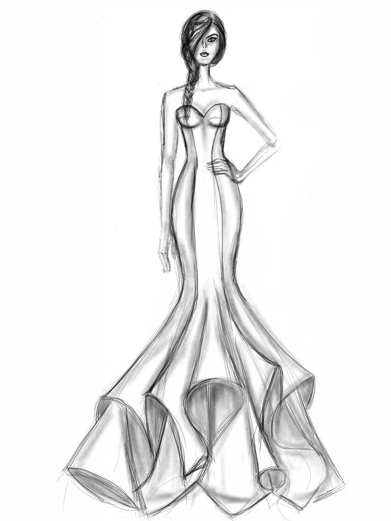 768x1024 Form Fitting Wedding Dress
