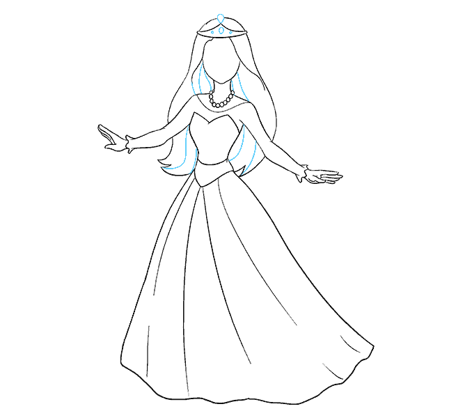 678x600 How To Draw A Cartoon Princess In A Few Easy Steps Easy Drawing