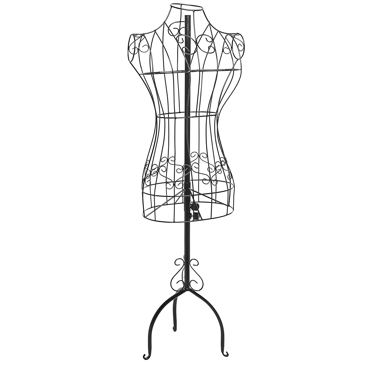 1500x1500 Designers Black Metal Adjustable Height Wire Frame