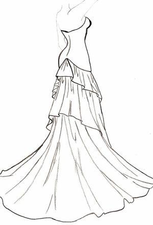 300x440 Wedding Dress Drawing