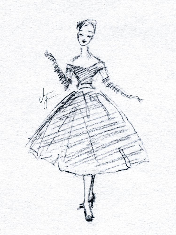 749x1000 Fashion Illustration Vintage. By Stilleswasser