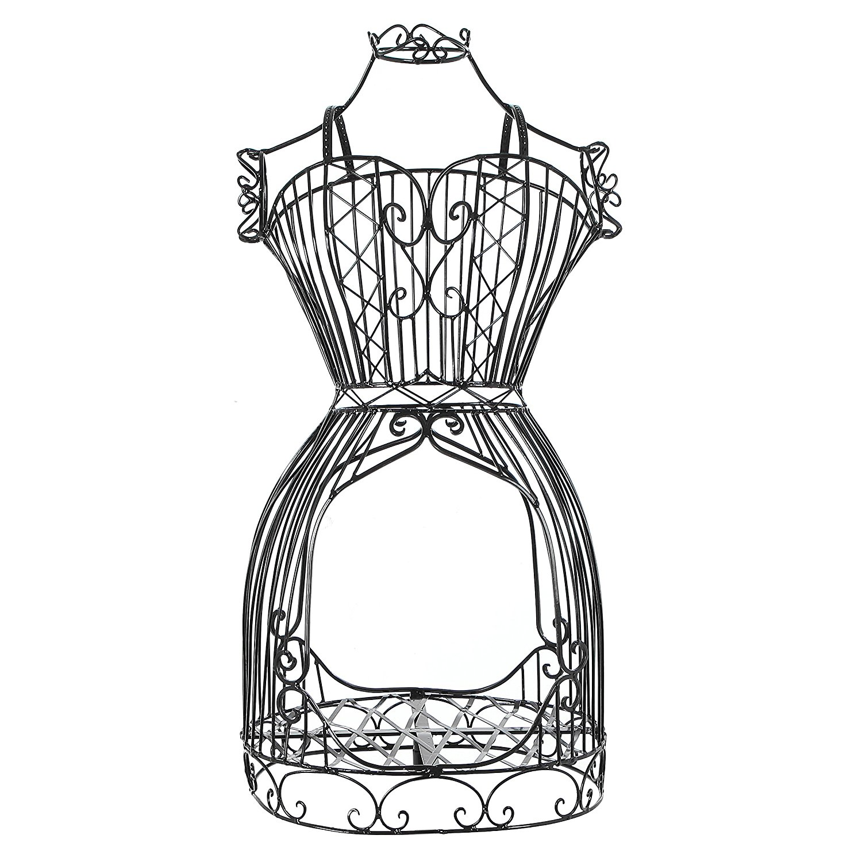 1500x1500 Vintage Designers Black Metal Scrollwork Wire Frame
