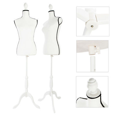 400x400 Beige Female Mannequin Torso Dress Form Clothing Display Black
