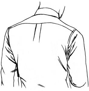 294x300 Dress Shirt Back Pleat Options