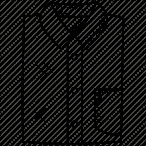 512x512 Dress Shirt, Folded Shirt, Formal Dressing, Mens Wear, Shirt Icon