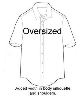 290x340 Fit Diagram Of An Oversized Men's Shirt. Men's Diagram