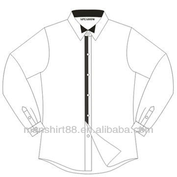 361x361 Manufacture Wing Collar Button Front Slim Fit Casual Dress Shirt