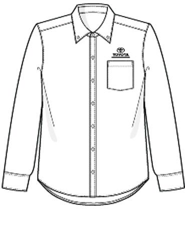 369x450 Red Kap 08 Sr70 T3 Men's Toyota Service Advisor Shirt Long