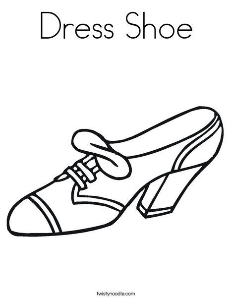 468x605 Dress Shoe Coloring Page