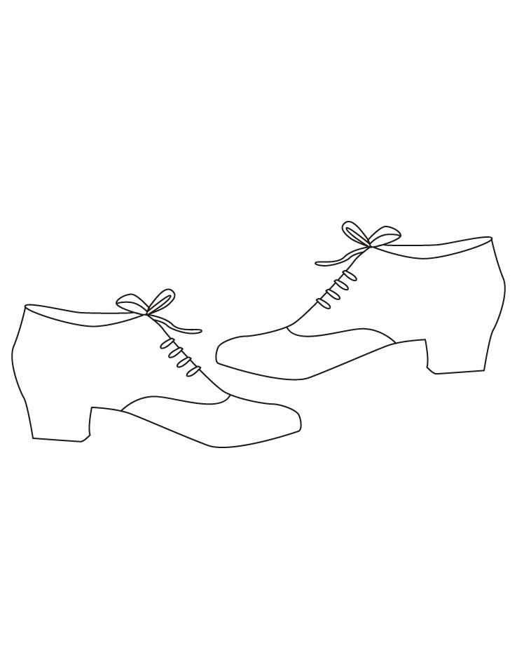 738x954 Dress Shoes Coloring Pages
