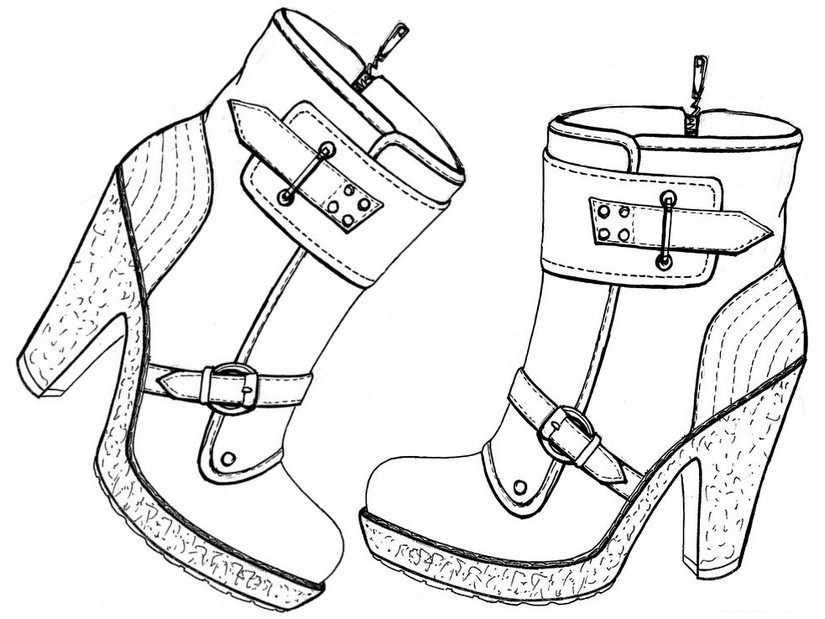 825x619 High Heel Boots Coloring Pages Coloring Pages For Girls