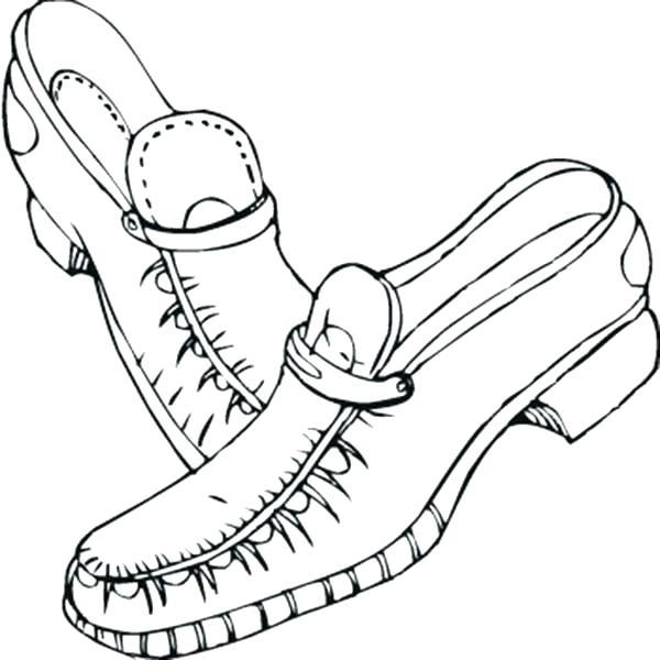 600x600 Shoes Coloring Page Dress Shoe Coloring Page Ballet Shoes