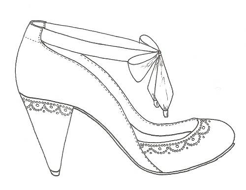 500x385 Shoes Drawing Designs Sketches
