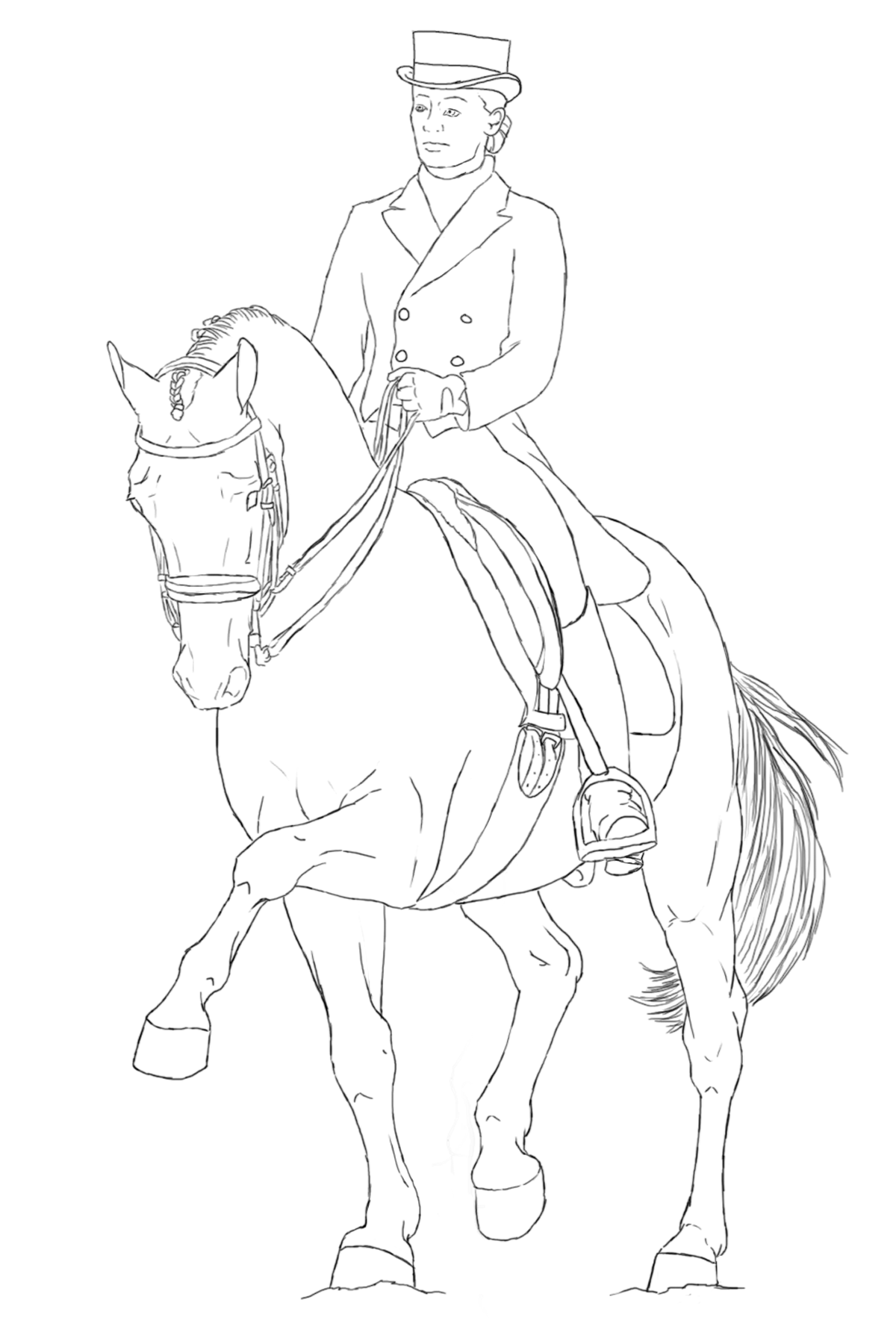 1200x1800 Dressage Lineart By B C
