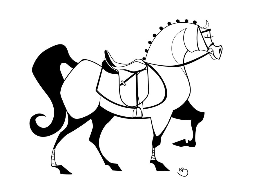 900x675 Dressage Horse Lineart By Obeythekiwi